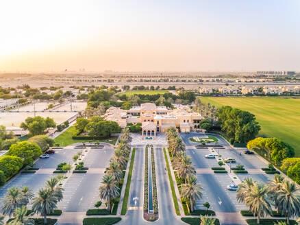 Aerial view of Dubai Polo & Equestrian Club, Dubai, UAE - AAEF01874