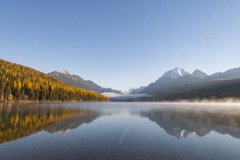 Bowman Lake, Glacier National Park, Montana, United States of America, North America - RHPLF00206