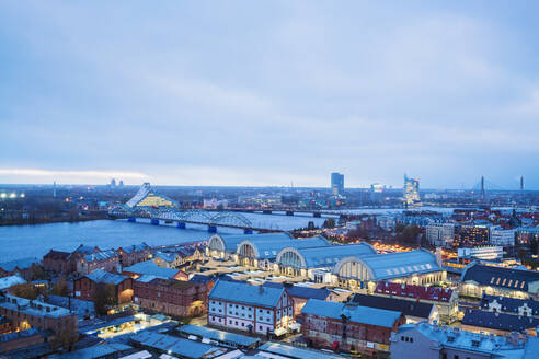 View of the city from above, Riga, Latvia - TAMF02087
