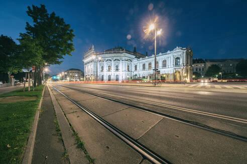 Burgtheater at night, Vienna, Austria - TAMF02132