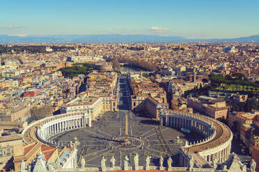 View from St. Peter's Basilica in the Vatican city, Rome, Italy - TAMF02165
