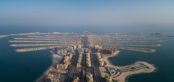 Aerial view of The Palm Jumeirah in Dubai, United Arab Emirates - AAEF02812
