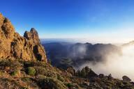 Pico de Las Nieves, 1949m, highest point in Gran Canaria, Gran Canaria, Canary Islands, Spain, Atlantic, Europe - RHPLF00472