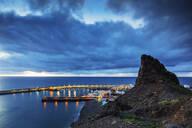 Coastline and harbour, Agaete, Gran Canaria, Canary Islands, Spain, Atlantic, Europe - RHPLF00478