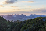 Views over Krabi from the Tiger Temple cave in Krabi, Thailand, Southeast Asia, Asia - RHPLF00749
