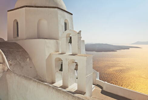 Greek Orthodox Church in Fira, Santorini (Thira), Cyclades Islands, Aegean Sea, Greek Islands, Greece, Europe - RHPLF00900
