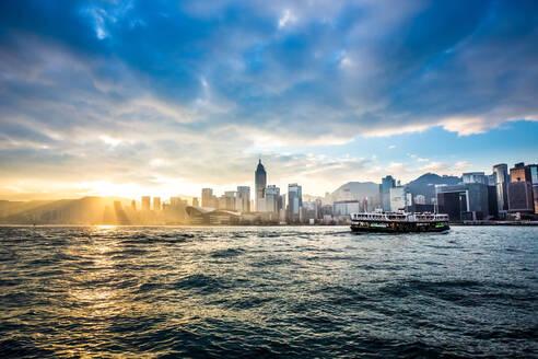 Hong Kong skyline with Star Ferry, Hong Kong, China, Asia - RHPLF01213