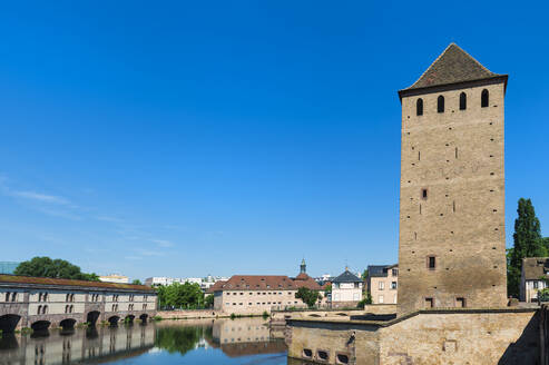 Ponts Couverts over Ill Canal, Strasbourg, Alsace, Bas-Rhin Department, France, Europe - RHPLF01784