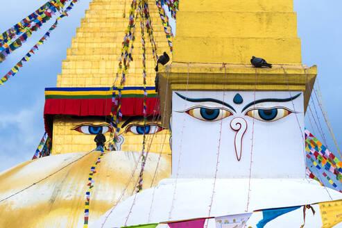 Largest Asian Stupa, Boudhanath Stupa, UNESCO World Heritage Site, Kathmandu, Nepal, Asia - RHPLF01787