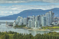 View of Vancouver skyline as viewed from Mount Pleasant District, Vancouver, British Columbia, Canada, North America - RHPLF02192