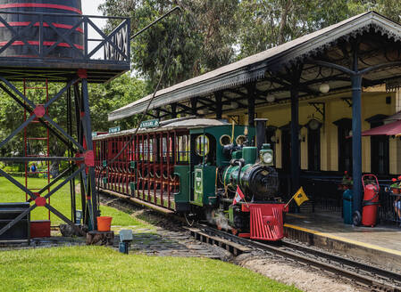 Train Station in Parque de la Amistad (Friendship Park), Santiago de Surco District, Lima, Peru, South America - RHPLF02294
