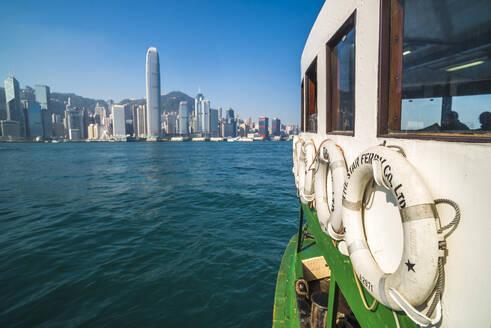 Star Ferry between Hong Kong Island and Kowloon, Hong Kong, China, Asia - RHPLF03594