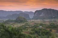 View of Vinales Valley, UNESCO World Heritage Site, Vinales, Pinar del Rio Province, Cuba, West Indies, Caribbean, Central America - RHPLF03671