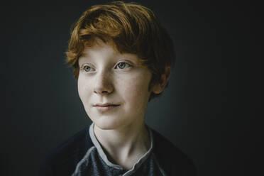 Portrait of redheaded boy with freckles - KNSF06246