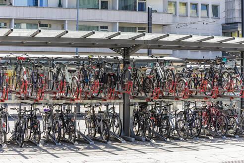 Bicycles parked at Konstablerwache, Frankfurt, Germany - WDF05444