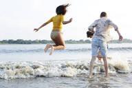 Friends having fun at he river - AMEF00067