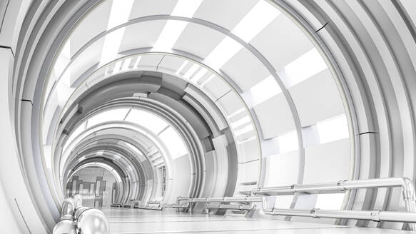Rendering of a futuristic tunnel - AHUF00576