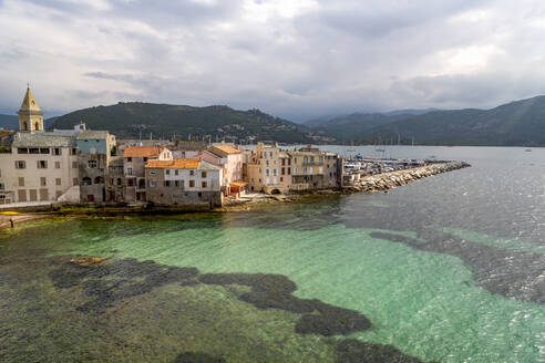 The small town of Saint Florent in northern Corsica, France, Mediterranean, Europe - RHPLF06440