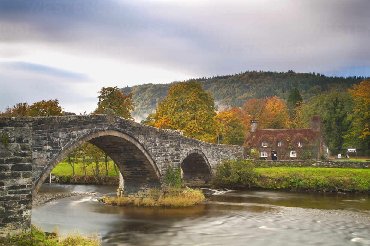 Llanrwst Bridge (Pont Fawr), Clwyd, Snowdonia, North Wales, United Kingdom, Europe - RHPLF06711 - RHPL/Westend61