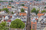 View from above of Leliedwarsstraatthe in the Jordaan, Amsterdam, North Holland, The Netherlands, Europe - RHPLF06883