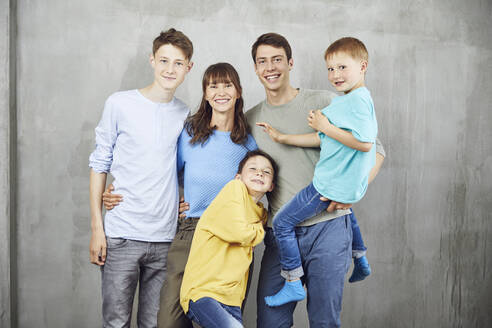 Mother with her four sons - MCF00219