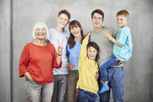 Four sons with their mother and grandmother - MCF00222