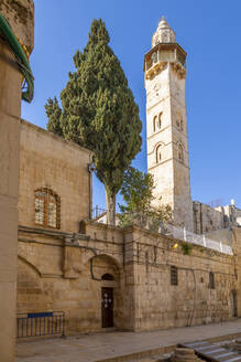 View of Mosque of Omar in Old City, Old City, UNESCO World Heritage Site, Jerusalem, Israel, Middle East - RHPLF07054