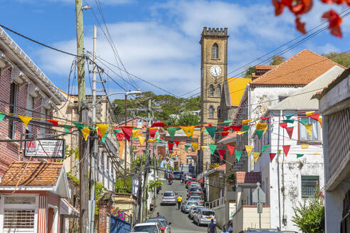 View of Cathedral of the Immaculate Conception in St. George's, Grenada, Windward Islands, West Indies, Caribbean, Central America - RHPLF07267