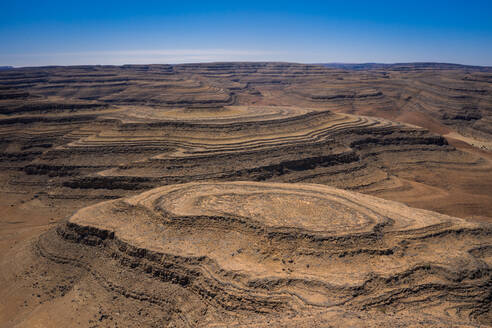 A drone shot of the Fish River Canyon, the second largest canyon in the world, Namibia, Africa - RHPLF07366