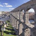 Roman Aqueduct, UNESCO World Heritage Site, Segovia, Castillia y Leon, Spain, Europe - RHPLF07439
