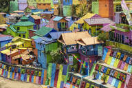 The brightly painted Warna-warni kampong or shanty town (slum), Malang, Java, Indonesia, Southeast Asia, Asia - RHPLF08328