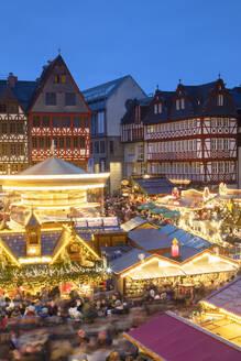 Frankfurt Christmas Market at dusk, Frankfurt am Main, Hesse, Germany, Europe - RHPLF08358