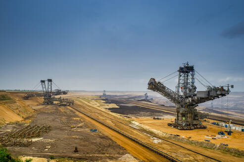View over brown coal opencast mine Garzweiler, Germany - FRF00869