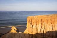 Rocky sandstone at Atlantic Coast, Algarve, Portugal - WIF04011