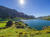 Scenic view of Lago Del Valle at Somiedo National Park, Asturias, Spain - LAF02369