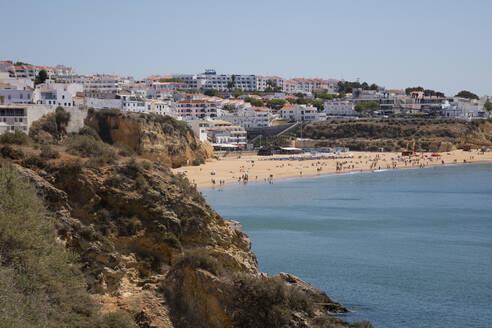 Scenic view of beach at Albufeira, Algarve, Portugal - WIF04024