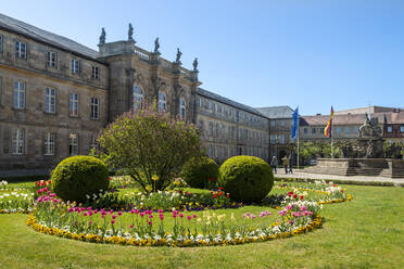 New Castle Bayreuth against clear blue sky, Franconia, Germany - LB02700