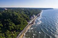 Aerial view of coastline of Svetlogorsk, Kaliningrad, Russia - RUNF03035
