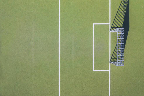 Drone shot of soccer field - MMAF01115