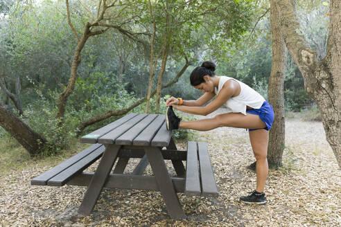 Ferreries, Menorca, Baleares,Spain. Woman doing sport outdoors - JPTF00294