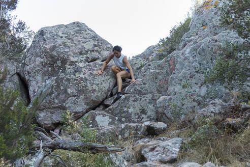 Ferreries, Menorca, Baleares,Spain. Woman doing sport outdoors - JPTF00297