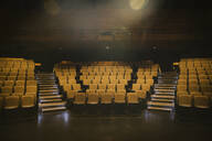 Yellow seats in empty auditorium - HEROF38579