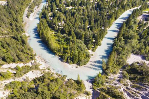 Isar am Isarhorn bei Mittenwald, Werdenfelser Land, Oberbayern, Bayern, Deutschland - SIEF09031