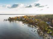Aerial view of Altja and the Baltic Sea, Laane-Viru, Estonia, Europe - RHPLF10051