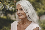 Portrait of a beautiful, white haired senior woman - JOSF03681