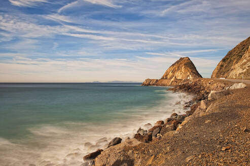 Mugu Rock in Ventura, Southern California, United States of America, North America - RHPLF11317