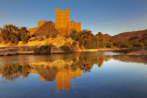 Ait Hamou ou Said Kasbah, Draa River, Draa Valley, Morocco, North Africa, Africa - RHPLF11341