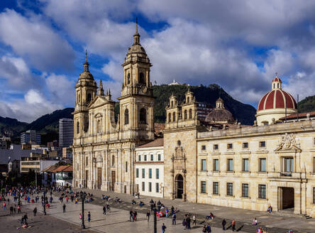 Cathedral of Colombia and Tabernacle Chapel, elevated view, Bolivar Square, Bogota, Capital District, Colombia, South America - RHPLF12192