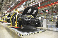 Modern automatized car production in a factory - LY00907