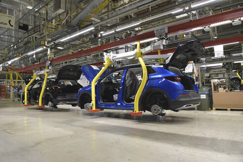 Modern automatized car production in a factory - LY00916